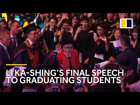 Hong Kong richest man Li Ka-shing's final commencement speech to graduating students