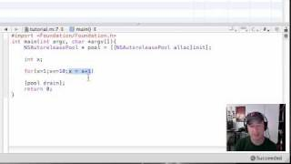 Objective C Programming Tutorial - 12 - Intro to Looping