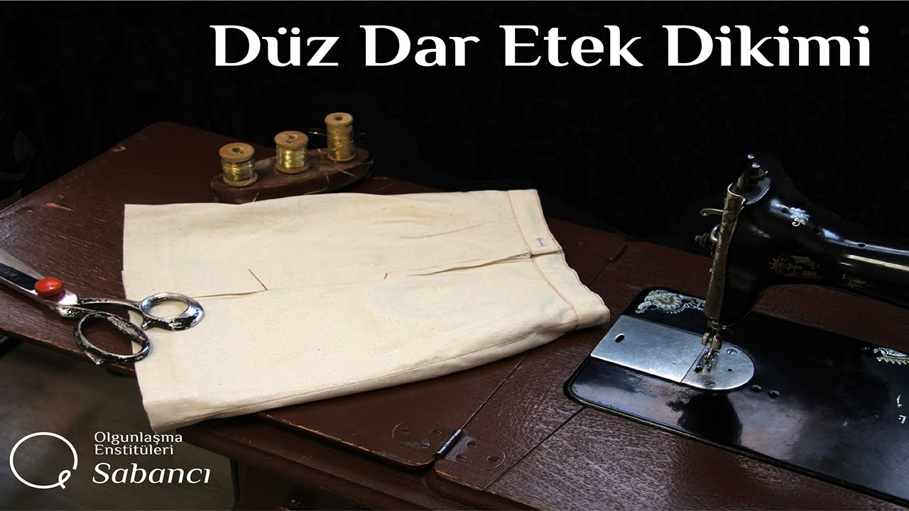 Düz Dar Etek Dikimi (How to sew a skirt for beginners)
