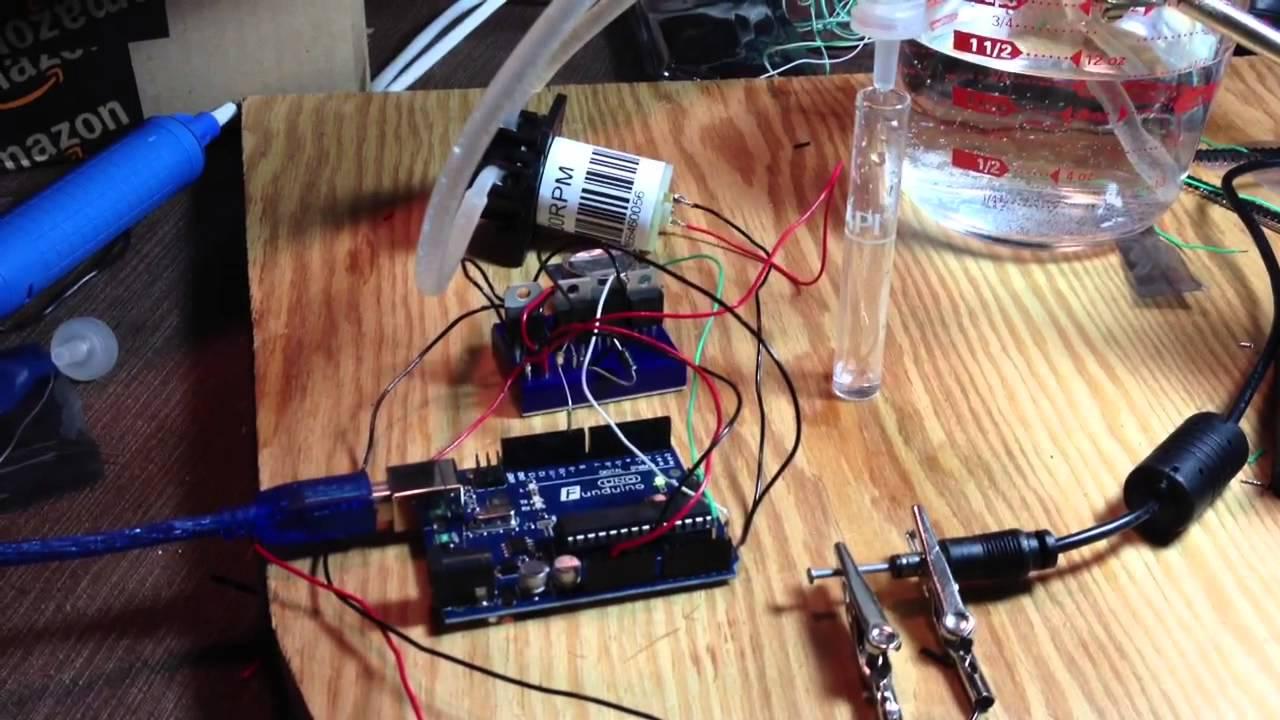 Arduino Controlled Dosing Pump Youtube