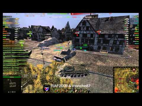 World Of Tanks взвод RAF2009 \u0026 Moncho87 клан A F F