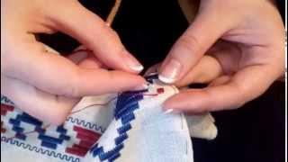 Как я начинаю вышивать рушник.