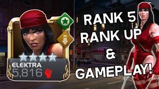 Elektra Rank 5 Rank Up & Act 5 Gameplay! - Marvel Contest Of Champions