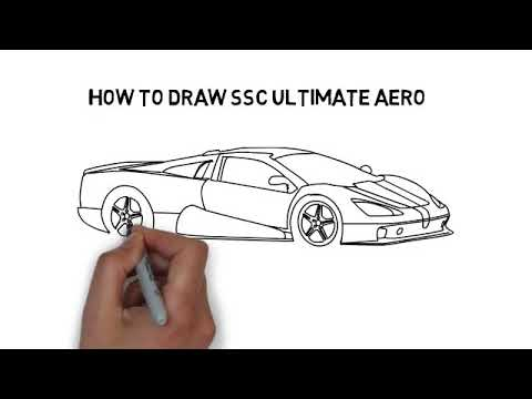 How to draw SSC Ultimate Aero