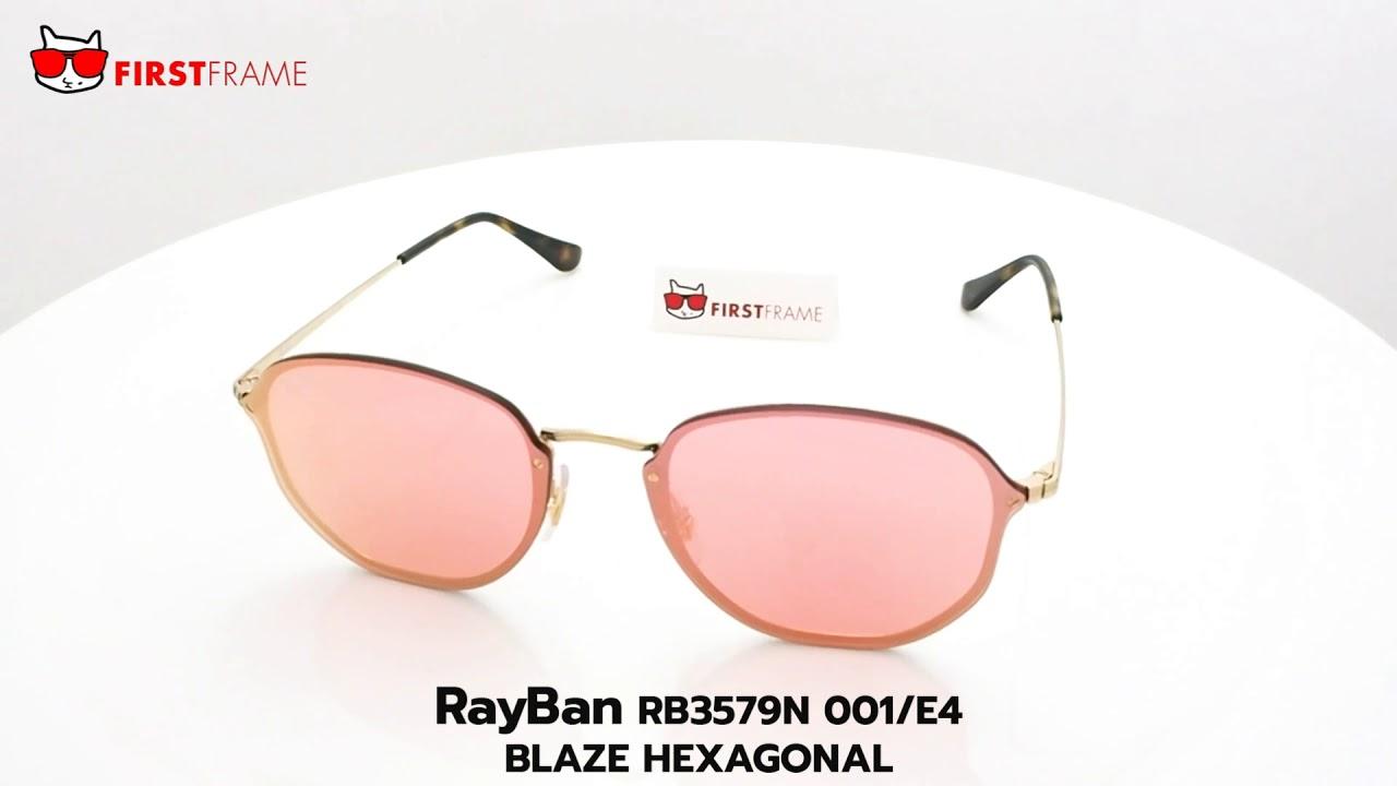 94506ef613 RayBan RB3579N 001 E4 BLAZE HEXAGONAL - YouTube