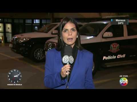 SP: Tentativa de assalto a carro-forte termina em troca de tiros - SBT Notícias (18/04/17)