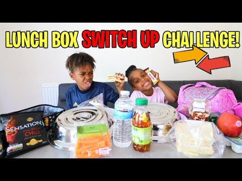 Mystery Lunch Box Switch Up Challenge Vs Little Sister!
