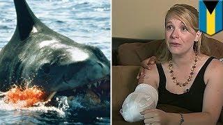 中米バハマで、米国人女性(32)がサメに襲われて片腕を失ったと、6月13...