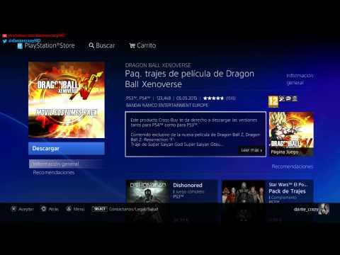 DRAGON BALL XENOVERSE || COMO DESCARGARSE EL DLC 3 Y EL PACK DE TRAJES