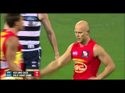 Gary Ablett Incredible Goal - Geelong vs Gold Coast Round 10 2013