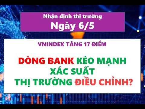 Nhận định thị trường chứng khoán ngày 6/5: VNINDEX mạnh, dòng tiền lan tỏa, cổ phiếu bank bứt phá
