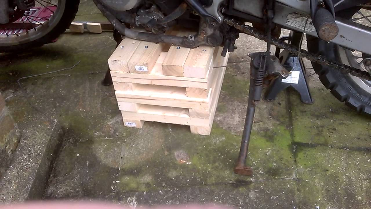 DIY Motorcycle Bike Lift Home Made Block To Allow Removal