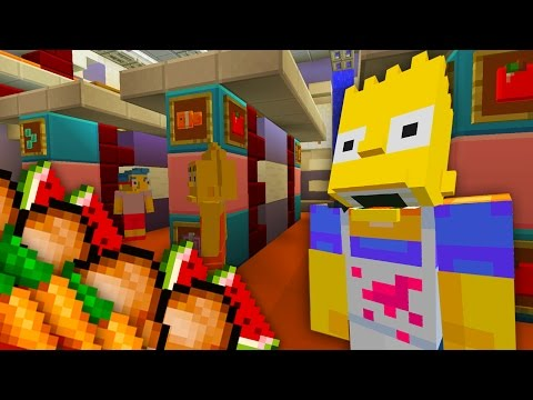 Bart Simpson Gets a New Job | The Simpsons | Minecraft Xbox [41]