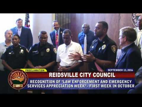 September 13, 2016 Reidsville City Council
