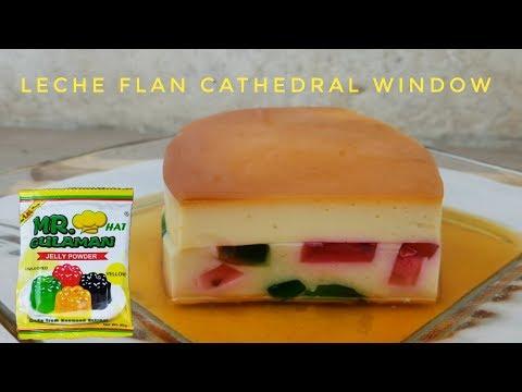 Leche Flan Cathedral Window   Gulaman Recipe   Jelly Recipe (leche Flan Recipe)