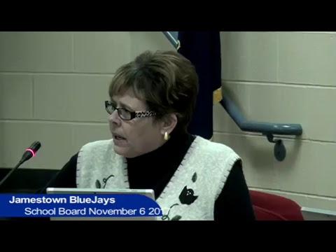 Jamestown Public School Board Meeting November 6, 2017