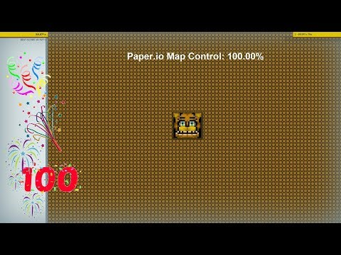 Paper.io Map Control: 100.00% World Record