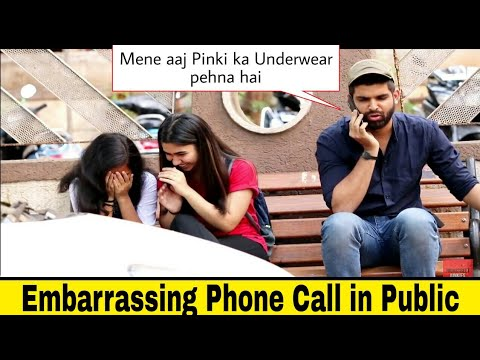 Embarrassing Phone Call in Public Prank | Hilarious reactions🤣| Pranks in India 2019  Indian pranks