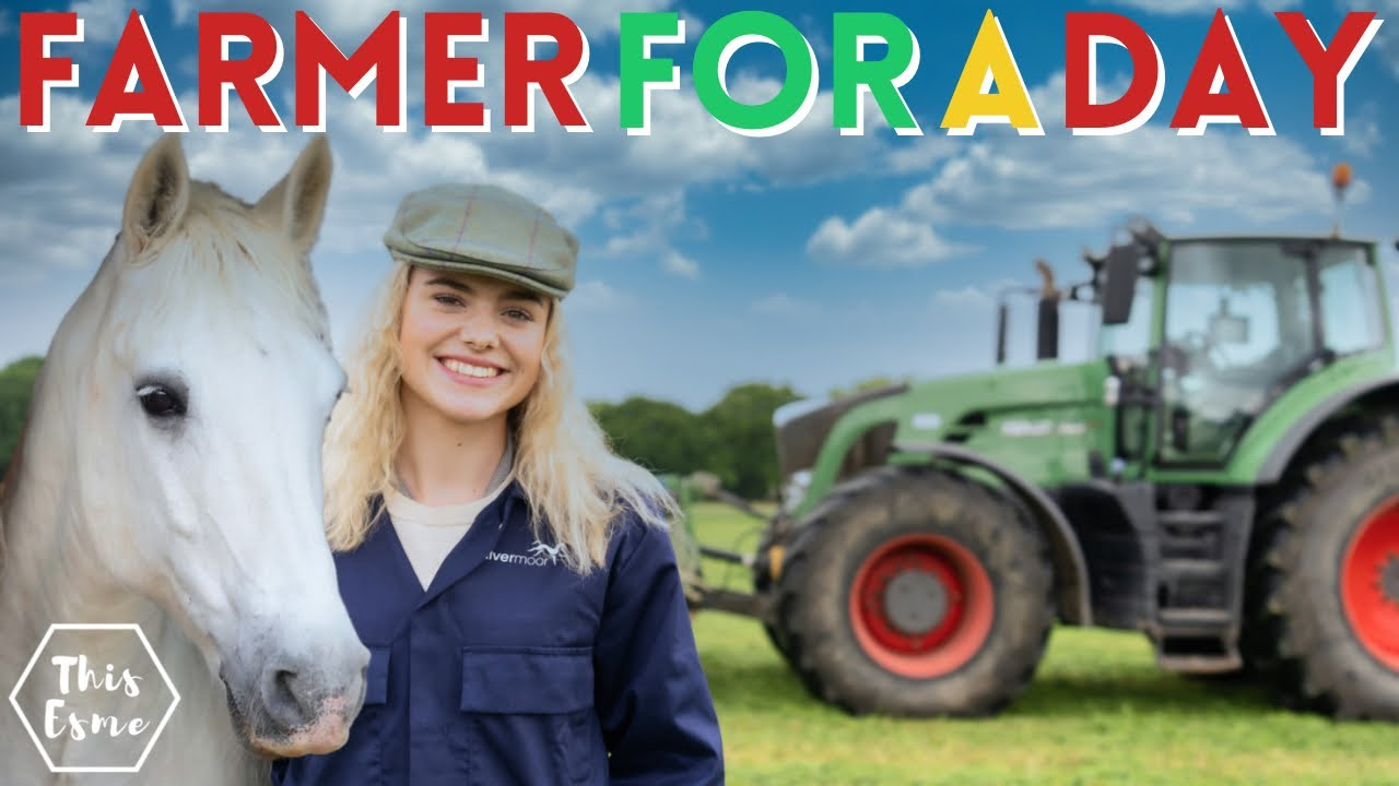 Farmer For A Day! I Drove the TRACTOR! AD   This Esme