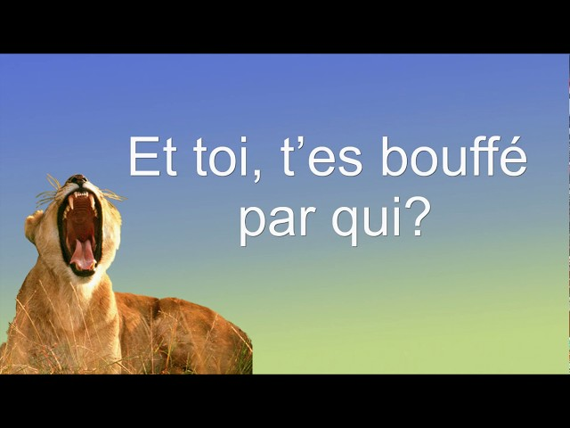 T'ES BOUFFE PAR QUI? #chansonhumoristique