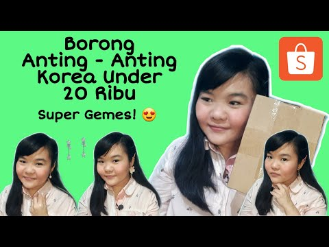 borong-anting-anting-korea-super-gemes-dibawah-20-ribu-|-shopee-haul-+-review