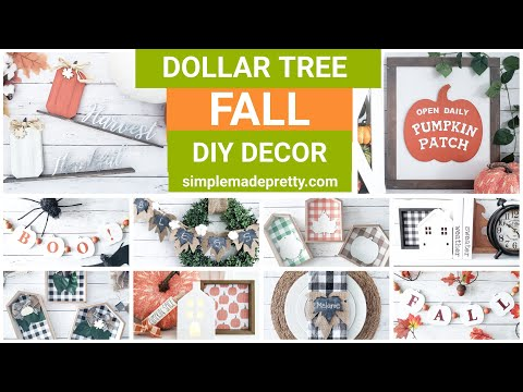 Dollar Tree FALL Home Decor DIY Projects - Dollar Tree Fall, Fall Decor DIY