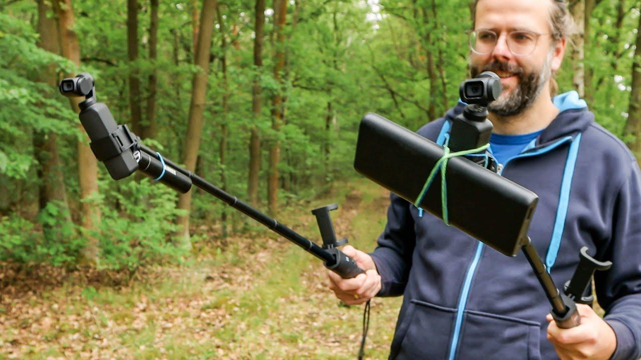 Geht das? DJI Osmo Pocket + Extension Rod als Z-Achsen-Stabilisator?