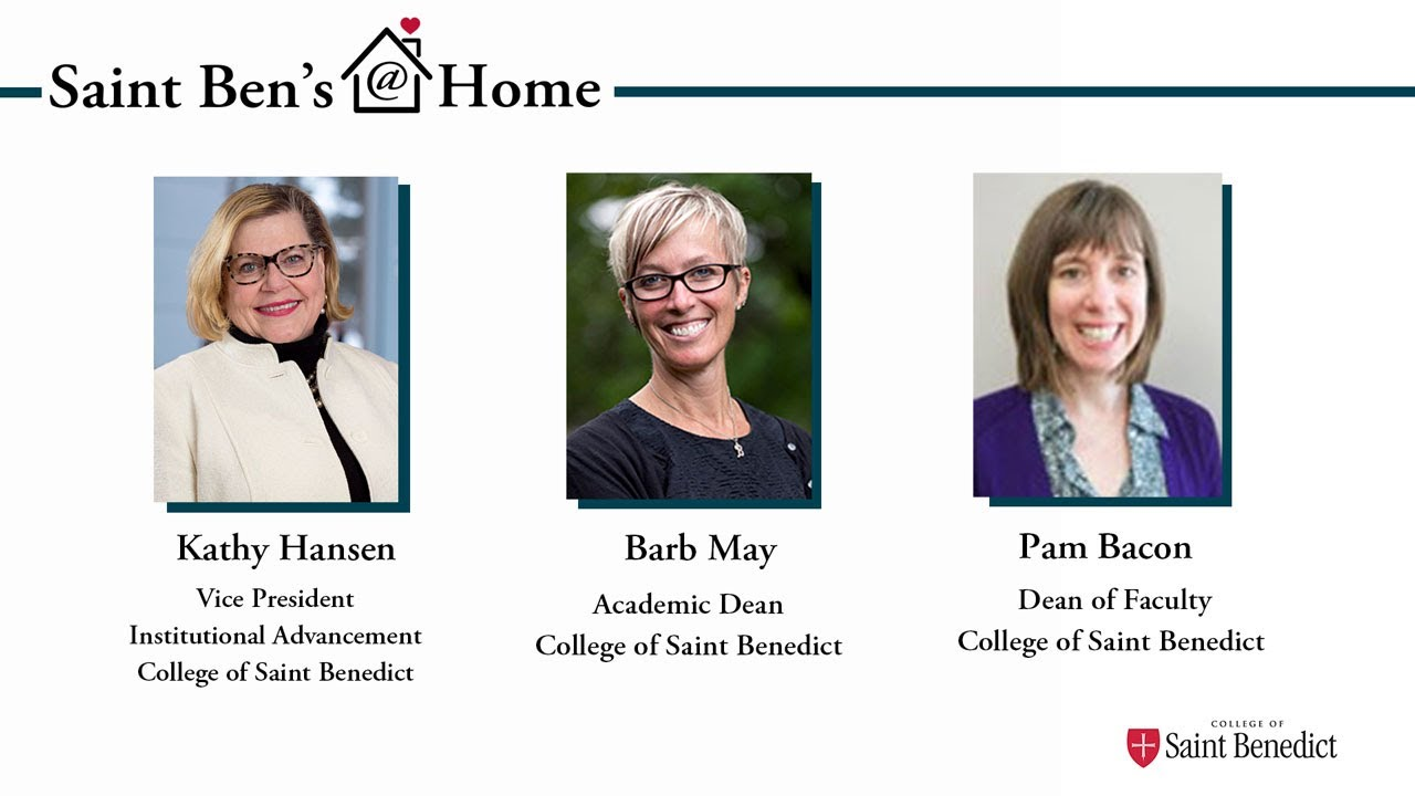 Image for Saint Ben's @ Home: Your Meeting with the Deans webinar