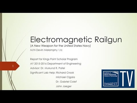 ELECTROMAGNETIC RAILGUN  EMRG  Submitted by   Navin Kumar         D EE