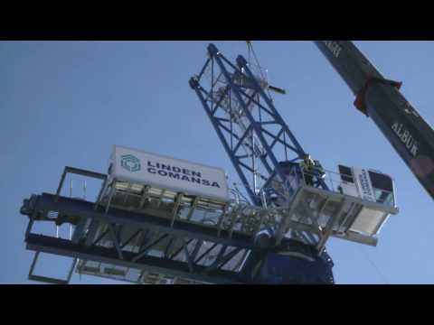 LCL700 luffing-jib tower crane by Linden Comansa