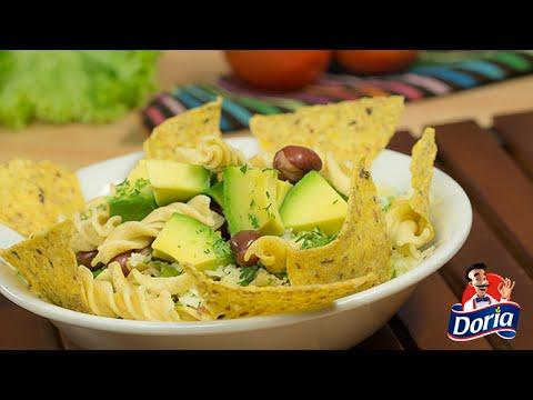 Ensalada con pasta: Tornillos integrales Doria a la mexicana