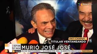 Fallece José José a los 71 años de edad