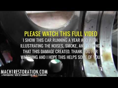 What Damaged Cylinder Walls & Pistons Sound Like | Damaged
