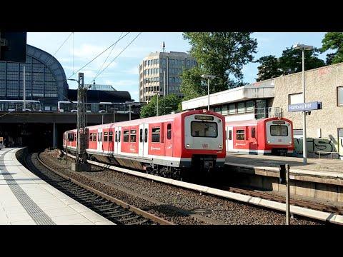 s-bahn-hamburg:-doppelausfahrt-baureihe-472-in-hamburg-hauptbahnhof