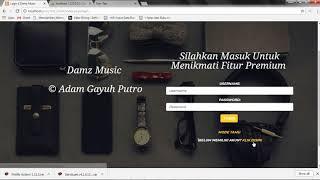 Download lagu tutorial membuat web musik seperti Joox