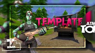 TOP 5 FORTNITE THUMBNAIL TEMPLATE 2019 Free Download #55 Photoshop