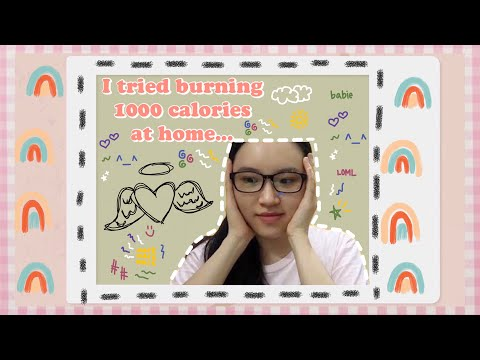 I TRIED BURNING 1000 CALORIES AT HOME | LOSE 1KG IN HOURS