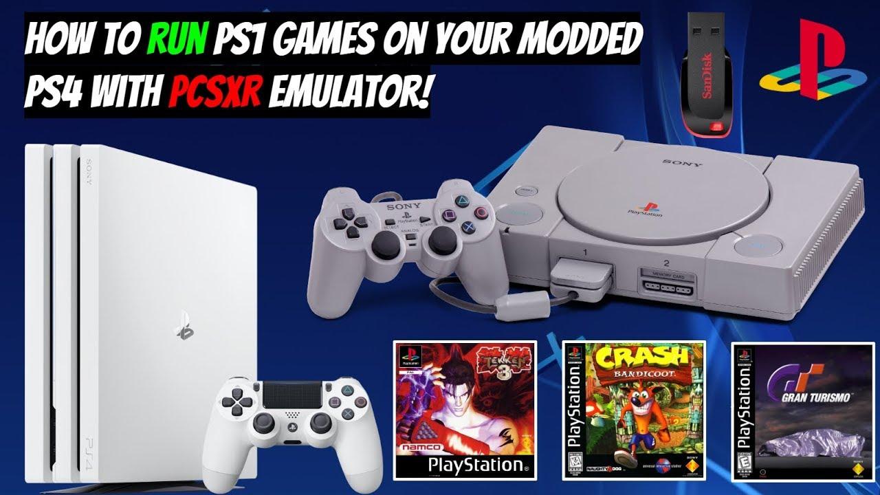 PCSX-R Emulator PS4 Port Crash Bandicoot & Resident Evil PSOne Demos