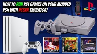 How To Run PS1 Games On Your Modded PS4 With PCSXR Emulator! + With GamePlay