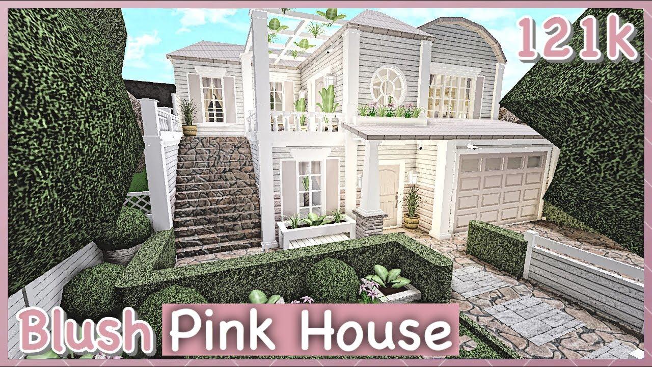 Bloxburg Blush Pink House Speed Build Youtube