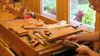 Townsend Card Table   Dovetail Rear Apron Step 21