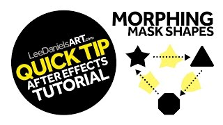 After Effects Tutorial | QUICK TIP | Morphing Mask Shapes