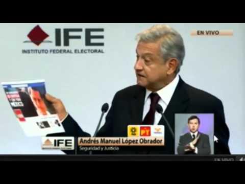 AMLO vs. Peña Nieto: documentos presentados en el primer debate