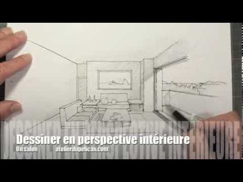 dessiner en perspective int rieure youtube. Black Bedroom Furniture Sets. Home Design Ideas
