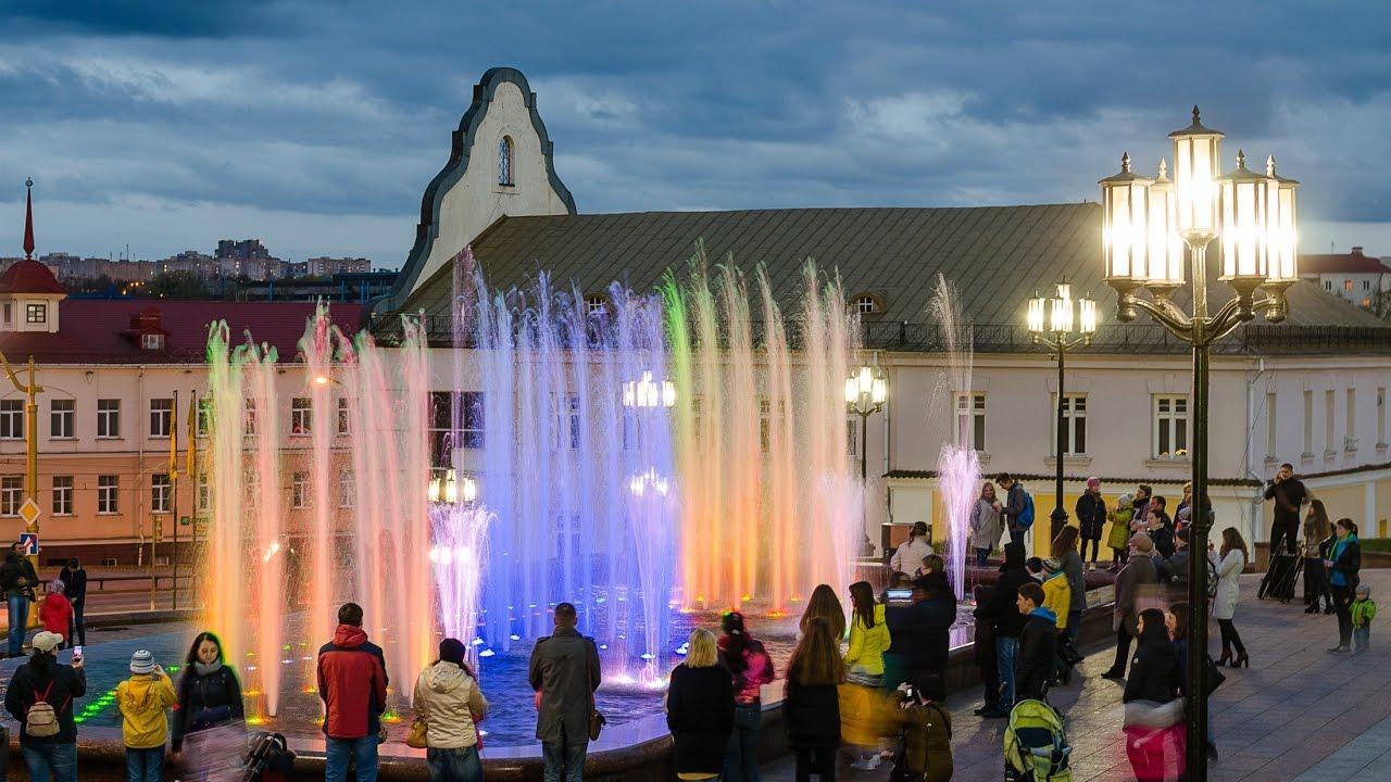 площадь советская фонтан гродно фото вида кожной