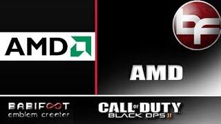 COD Black Ops 2 Emblem Tutorial - AMD Logo (Facebook Request)