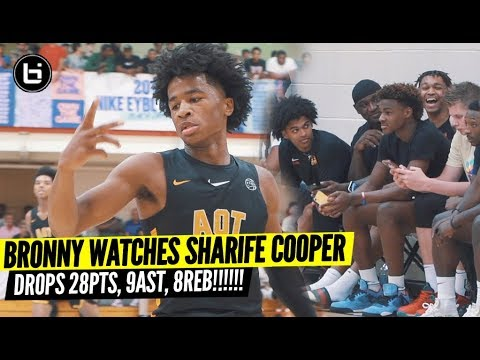 Sharife Cooper Goes Off In Front of Bronny James!