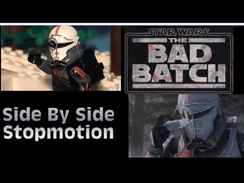 Lego Star Wars: The Bad Batch – Official Trailer Side By Side Stop motion (2021)