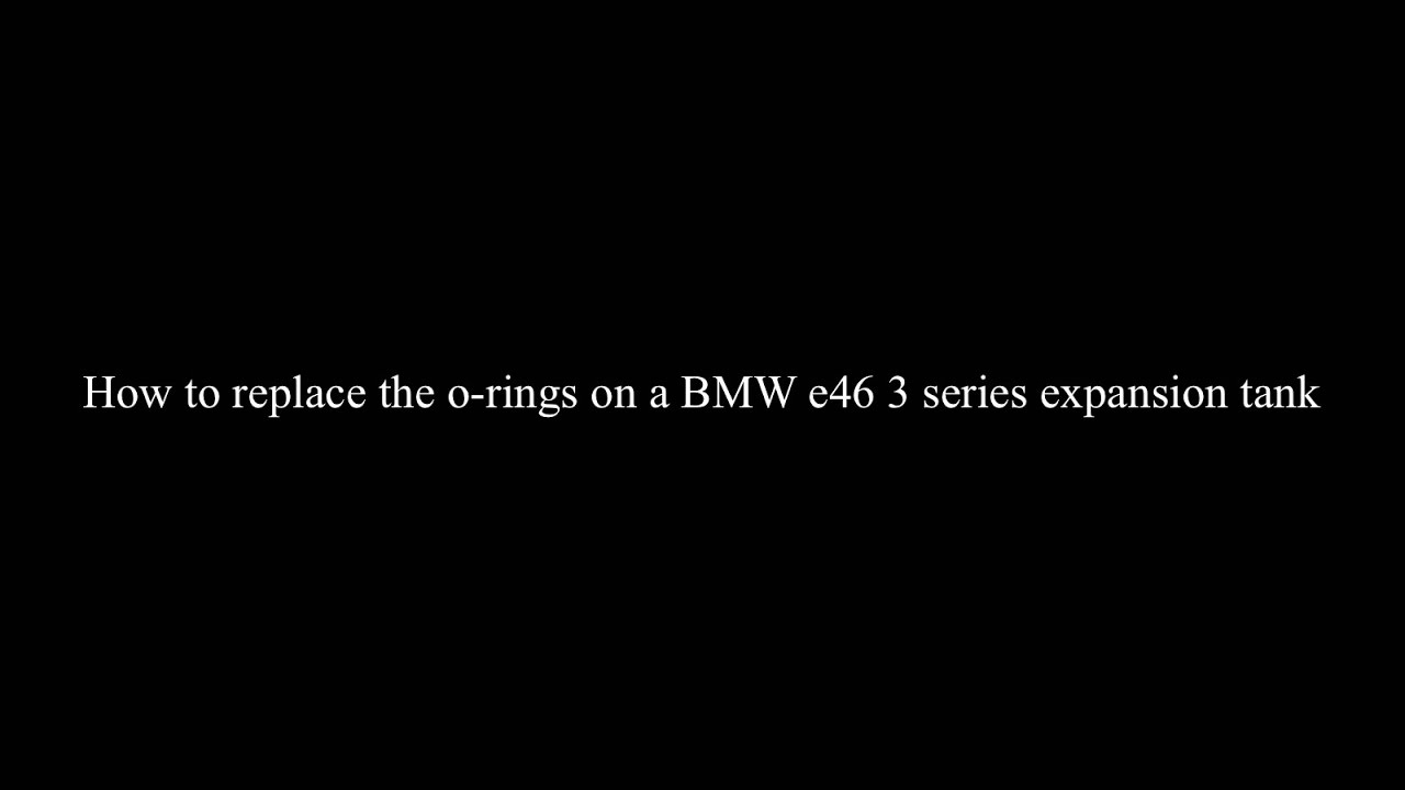 How To Replace The O Rings On A Bmw E46 3 Series Expansion Tank 316i And 318i M43 Engine Oil Filter Housing Leak Gtgt Power