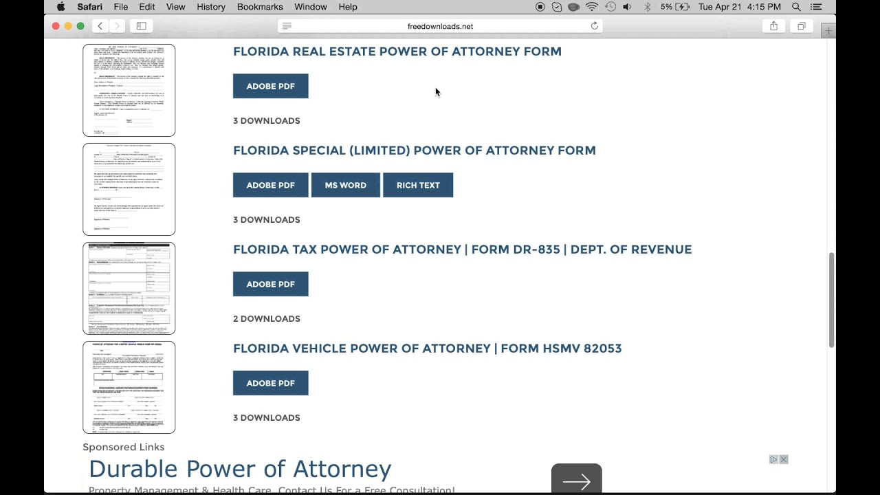 How to get florida power of attorney download free youtube how to get florida power of attorney download free falaconquin